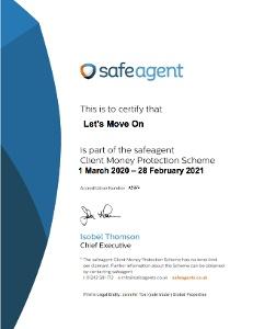 Safe Agent-Client Money Protection renewal