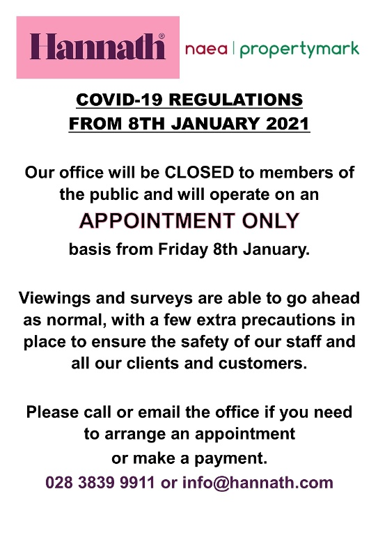 COVID Regulations - 8th January