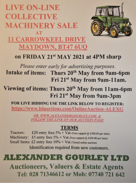 LIVE ONLINE COLLECTIVE MACHINERY SALE
