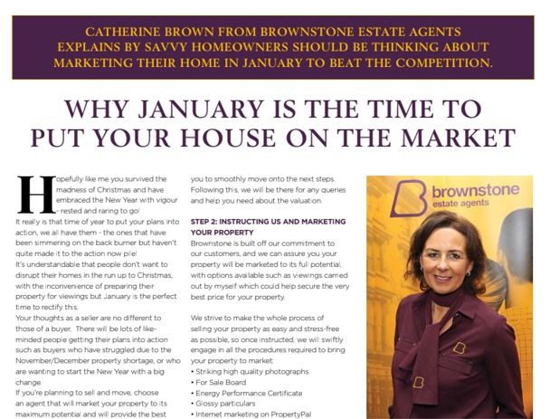 WHY JANUARY IS THE TIME TO PUT YOUR HOUSE ON THE MARKET