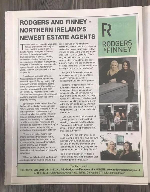 Northern Ireland's Newest Estate Agents