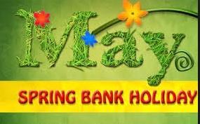Closed for May Day Bank Holiday