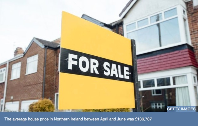 Northern Ireland house prices rise by 3.5% in a year
