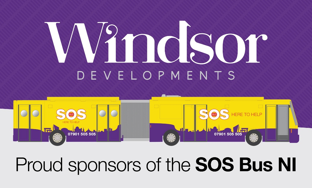 Proud sponsors of the SOS Bus NI