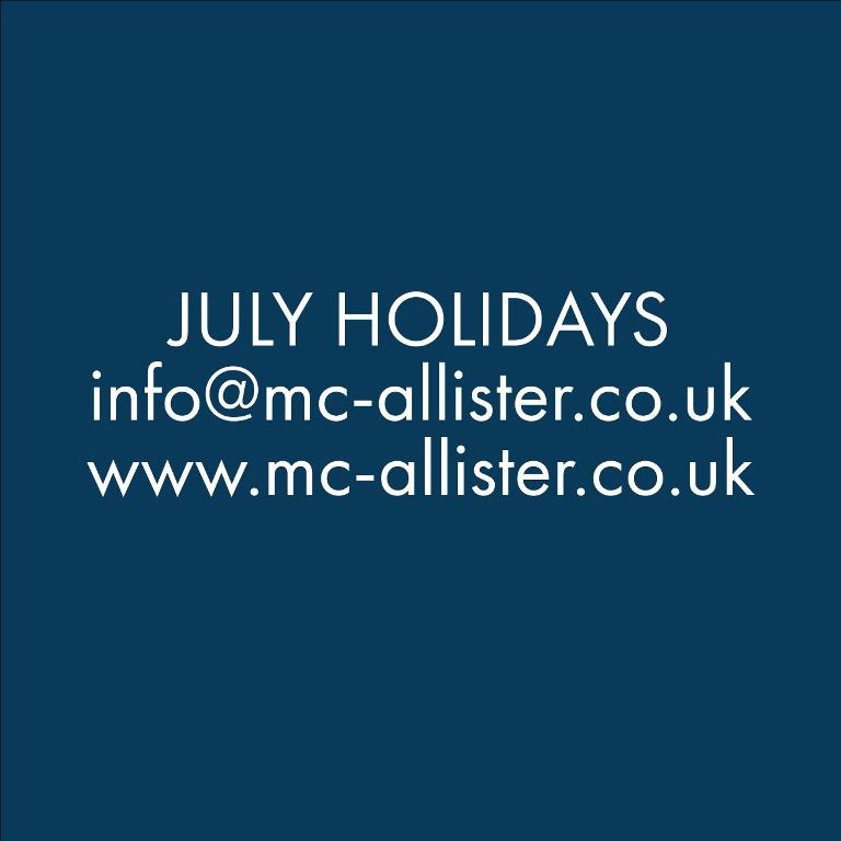 July Holidays Closure